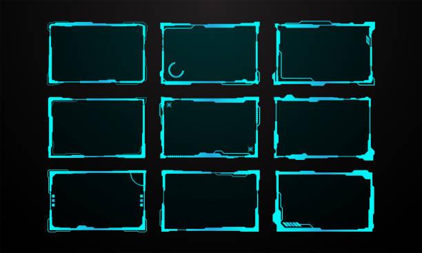 Abstraktes Scifi-Frame-Scheme-Layout-Konzept Hintergrund – Vektorgrafik