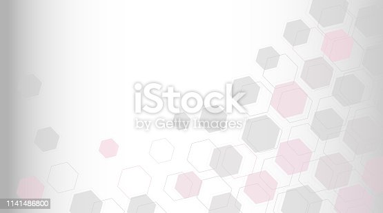 istock Abstract science background with hexagons 1141486800