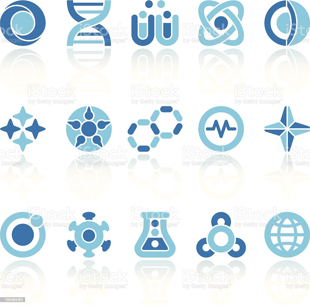 abstract science symbols vector art illustration