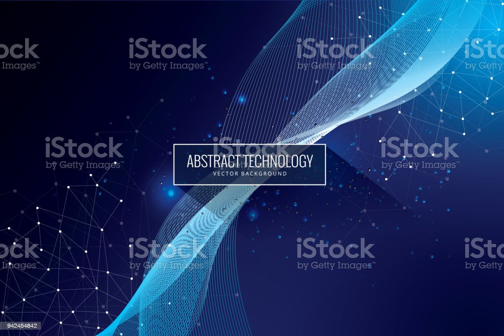 Abstract science tech design innovation communication concept background royalty-free abstract science tech design innovation communication concept background stock illustration - download image now