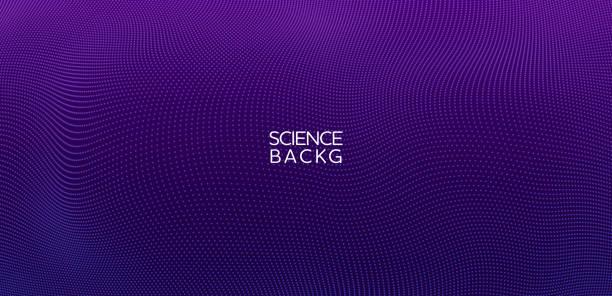 bildbanksillustrationer, clip art samt tecknat material och ikoner med abstrakt & science technology bakgrund. nätverk, partikel illustration. 3d-rutnätets yta - purpur