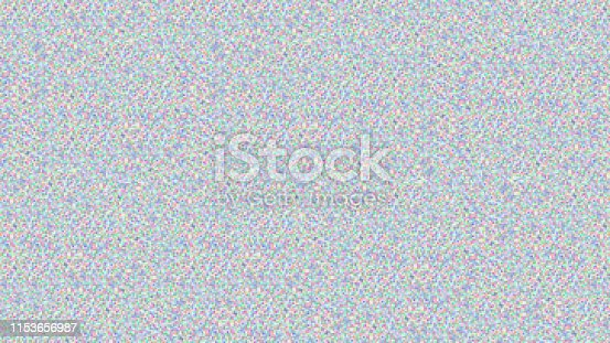 istock Abstract screen color noise texture, Digital pixel glitch 1153656987