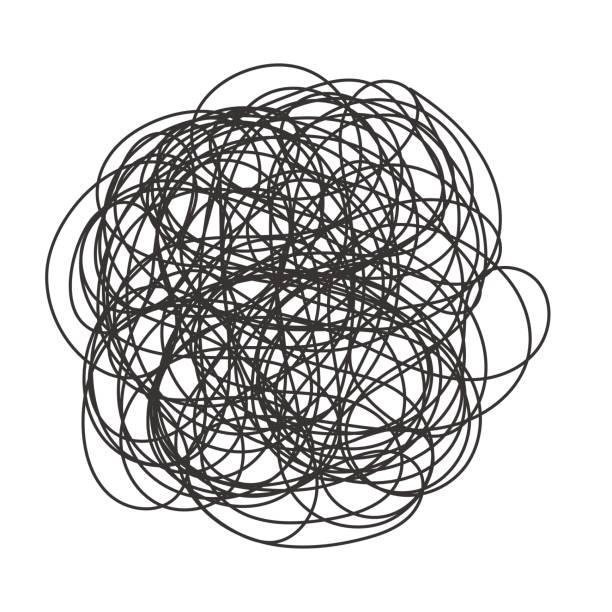 abstrakte scribble chaos muster - chaos stock-grafiken, -clipart, -cartoons und -symbole