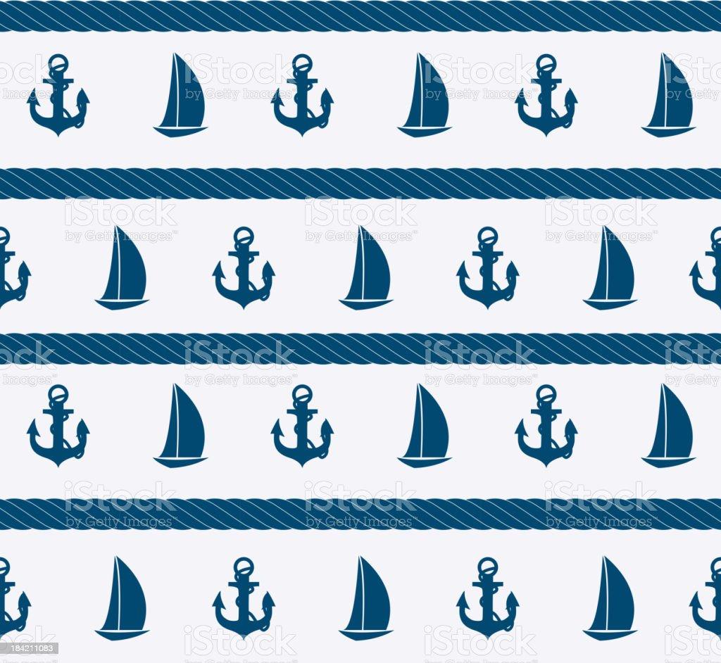 Abstract sea seamless pattern background. Vector illustration vector art illustration