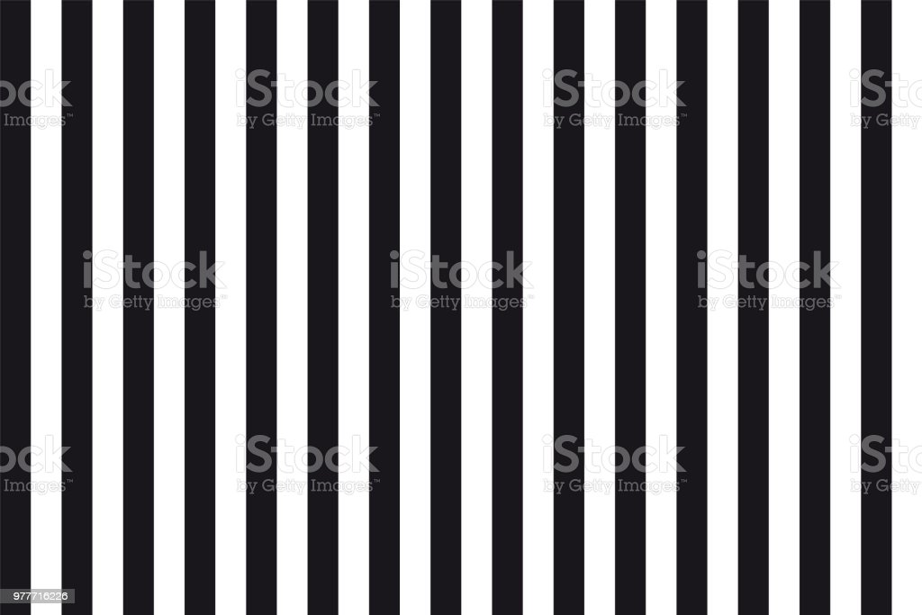 Abstract seamless background of black and white parallel vertical lines vector art illustration