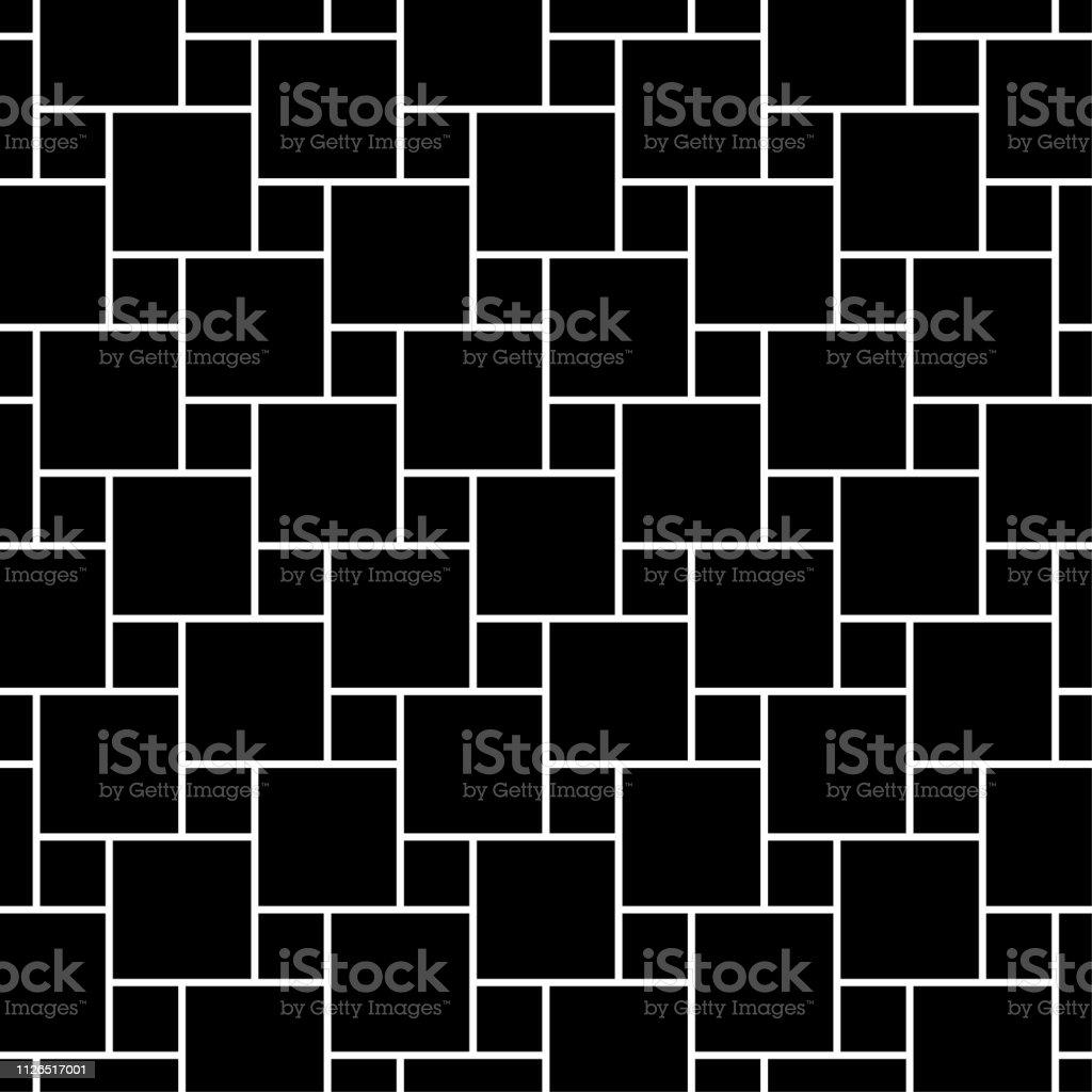 シームレスな背景パターン 灰色の壁紙黒と白 ベクトル図を抽象化します