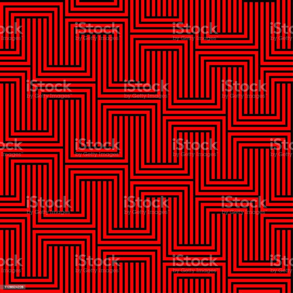 抽象的なシームレスな背景パターン 赤黒壁紙 ベクトル イラスト ます