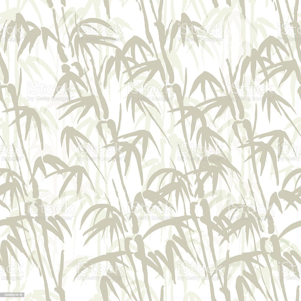 Abstract seamless background with bamboo vector art illustration