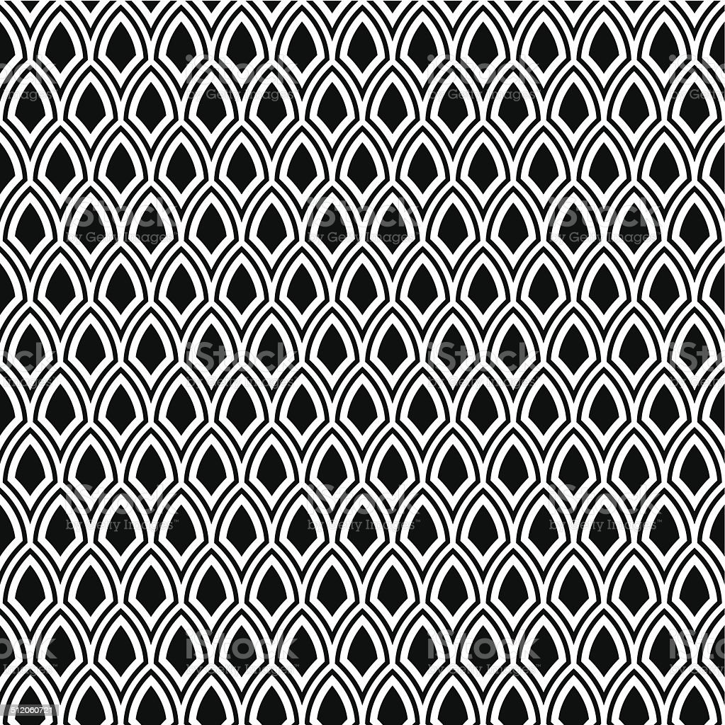 abstract seamless black and white art deco pattern stock vector art more images of abstract. Black Bedroom Furniture Sets. Home Design Ideas