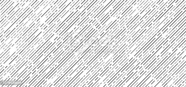 istock Abstract seamless black dash lines diagonal pattern on white background 1278434948