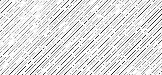 bildbanksillustrationer, clip art samt tecknat material och ikoner med abstrakt sömlösa svarta strecklinjer diagonalt mönster på vit bakgrund - på rad