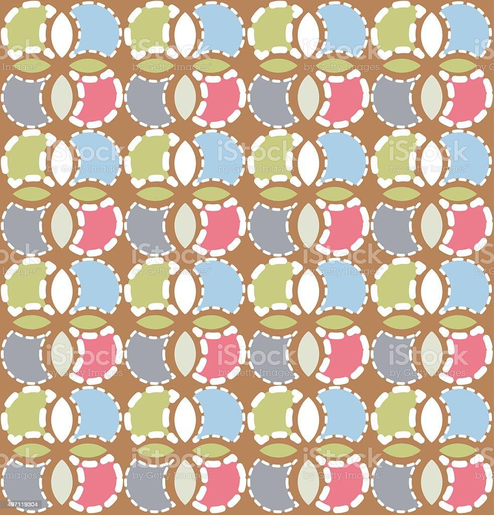 Abstract seamless floral pattern, vector illustration vector art illustration