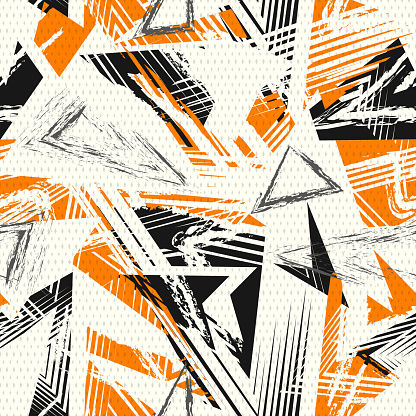 Abstract seamless geometric pattern. Colorful sport style vector illustration