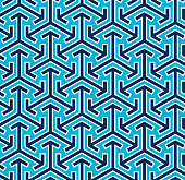Abstract Seamless Japanese Geometric Pattern