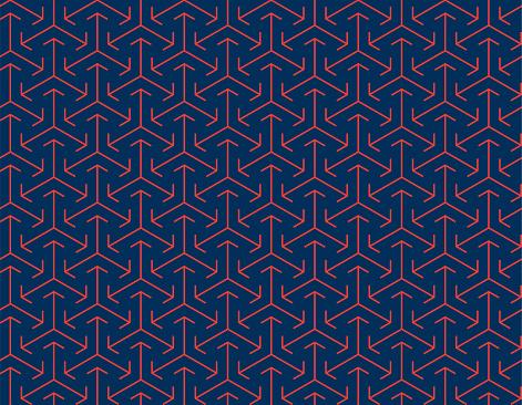Abstract Seamless Japanese Arrow Pattern