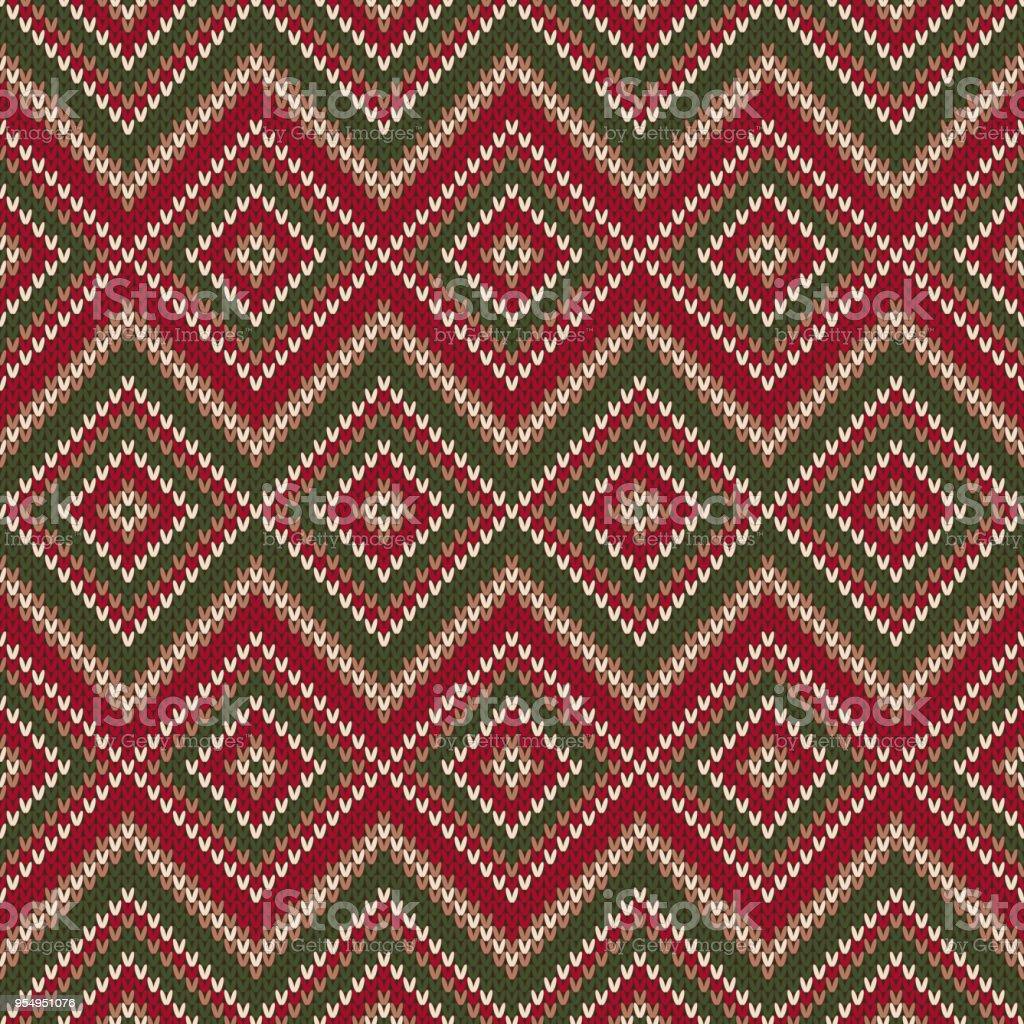Ilustración de Patrón Abstracto Tejer Sin Costuras Diseño Del Suéter ...