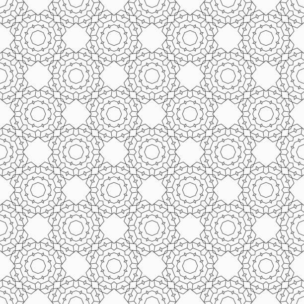 abstrakte nahtlose linienmuster. - gartendekorationen stock-grafiken, -clipart, -cartoons und -symbole