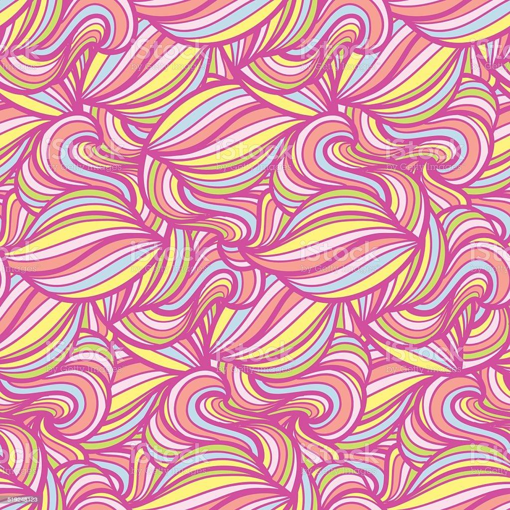 Abstract seamless ornament pattern vector art illustration