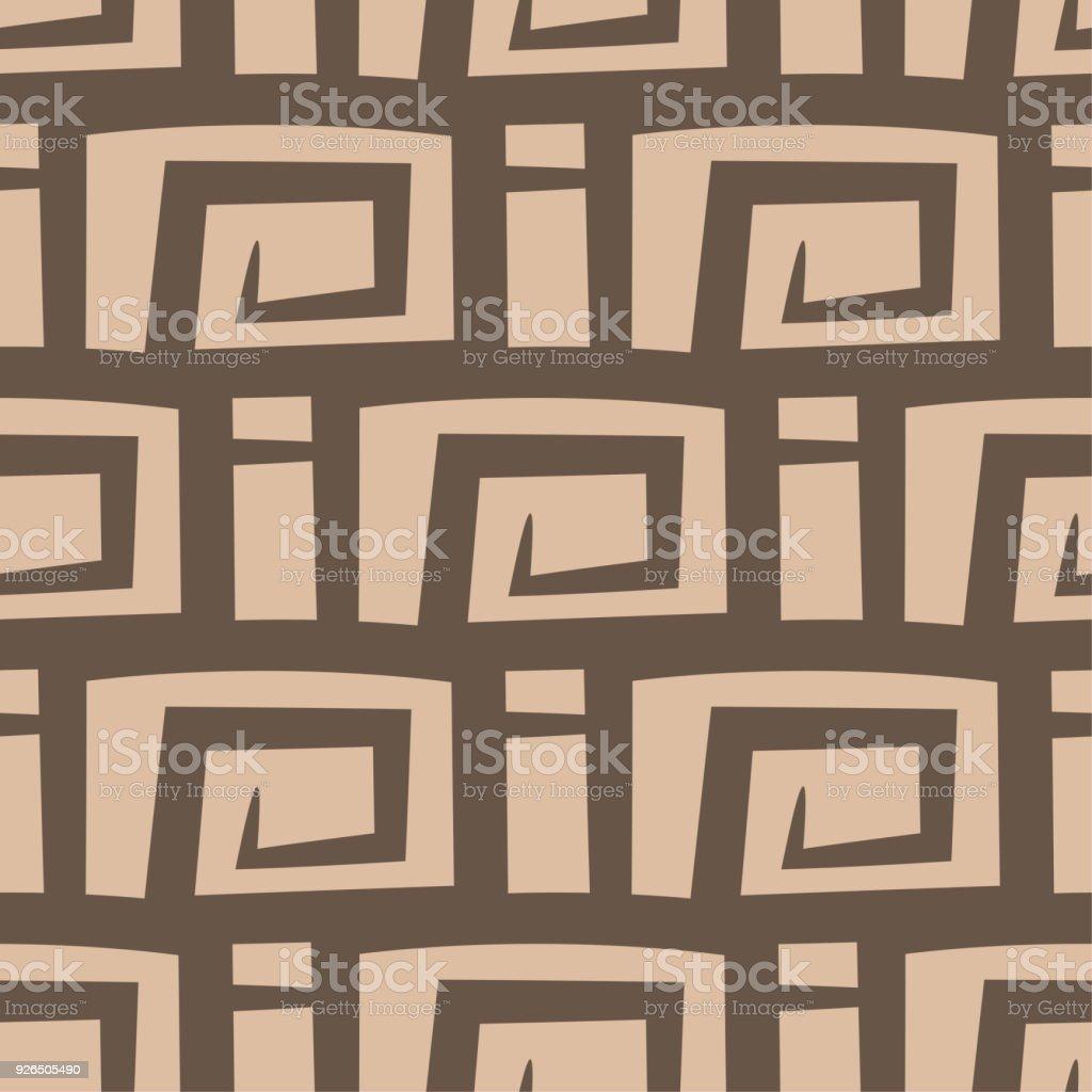 Abstrata Sem Costura Padrão. Fundo Bege E Marrom Para Tecidos E Têxteis  Ilustração De Abstrata