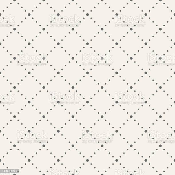 Abstracte Naadloze Patroon Gestippelde Rhombuses Stockvectorkunst en meer beelden van Abstract