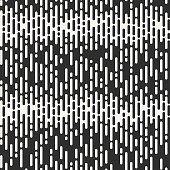 Abstract seamless pattern. Irregular Rounded Lines. Halftone transition. Monochrome geometric texture. Vector background.