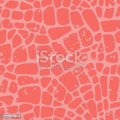 Abstract repeating geometric background with chaotic texture. Irregular blocks pattern. Seamless paving stone mosaic tracery.