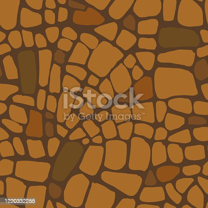 Abstract repeating geometric background with chaotic texture. Irregular blocks pattern. Seamless paving stone, stained glass mosaic tracery.