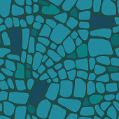 Abstract seamless pattern made of geometric shapes