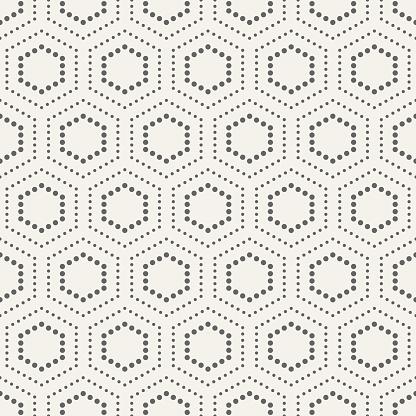 Abstracte Naadloze Patroon Van Gestippelde Zeshoeken Stockvectorkunst en meer beelden van Abstract