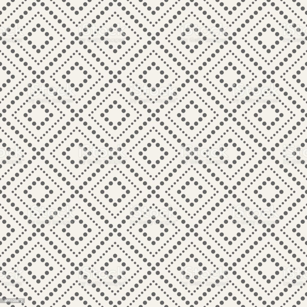 Abstract seamless pattern of dotted rhombuses. - Векторная графика Абстрактный роялти-фри