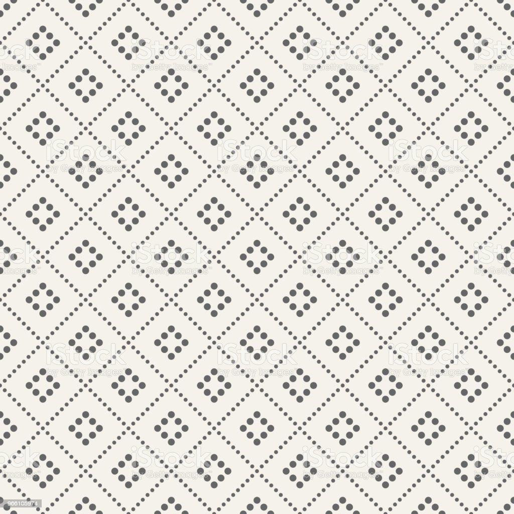 Abstrakta sömlösa mönster av prickade rhombuses. - Royaltyfri Abstrakt vektorgrafik