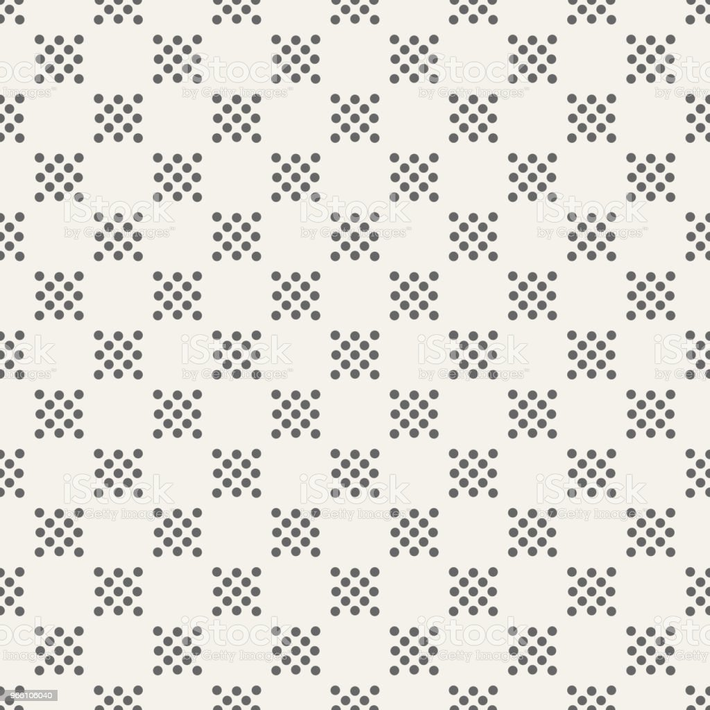 Abstract seamless pattern of dotted squares. - Векторная графика Абстрактный роялти-фри