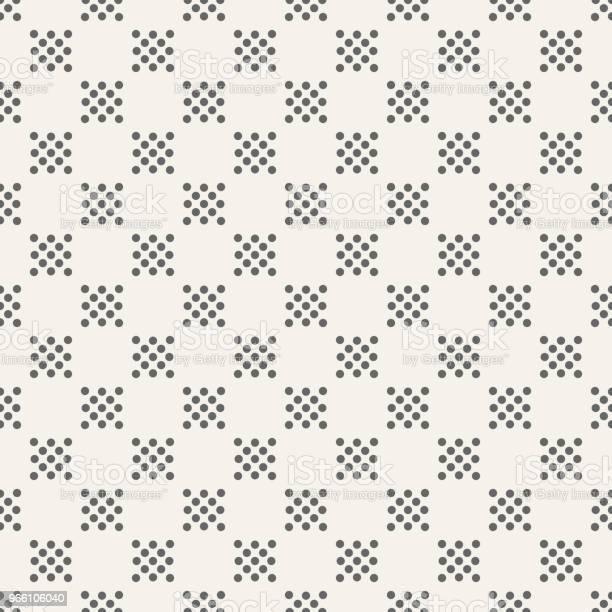 Abstract Seamless Pattern Of Dotted Squares — стоковая векторная графика и другие изображения на тему Абстрактный