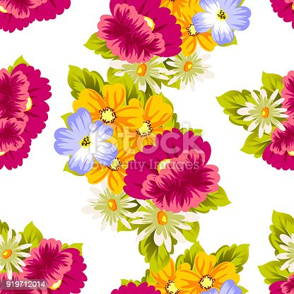 Abstract seamless pattern of flowers for card designs greeting cards abstract seamless pattern of flowers for card designs greeting cards birthday invitations valentines day party holiday stock vector art more images of m4hsunfo