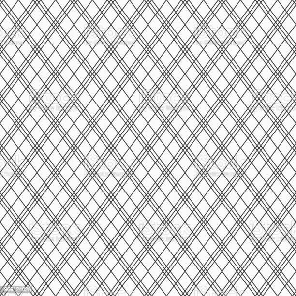 Abstract Seamless Pattern Of Linear Rhombuses — стоковая векторная графика и другие изображения на тему Абстрактный