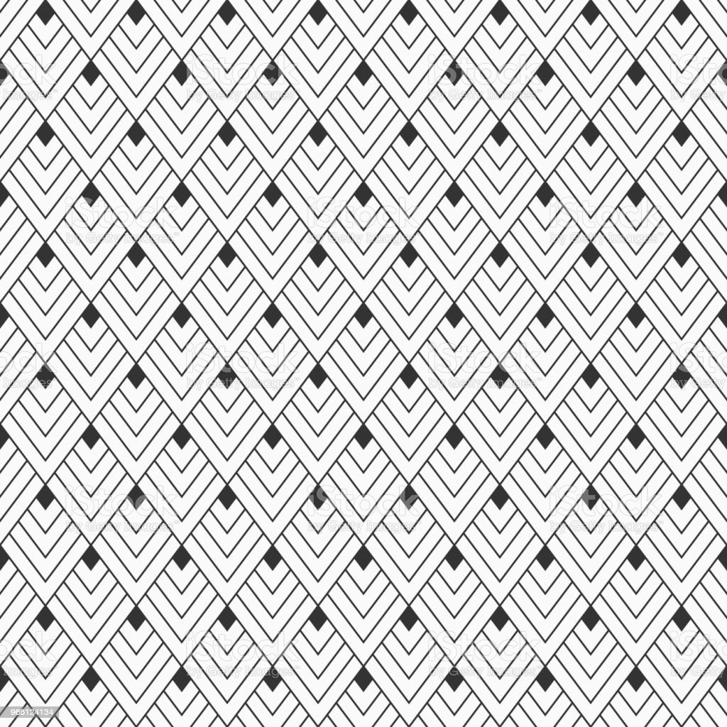 Abstract seamless pattern of linear rhombuses. - Royalty-free Abstrato arte vetorial