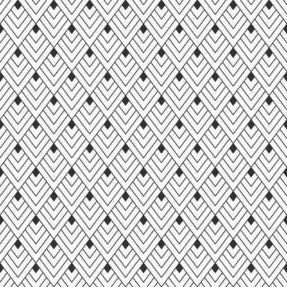 Abstract Seamless Pattern Of Linear Rhombuses - Arte vetorial de stock e mais imagens de Abstrato