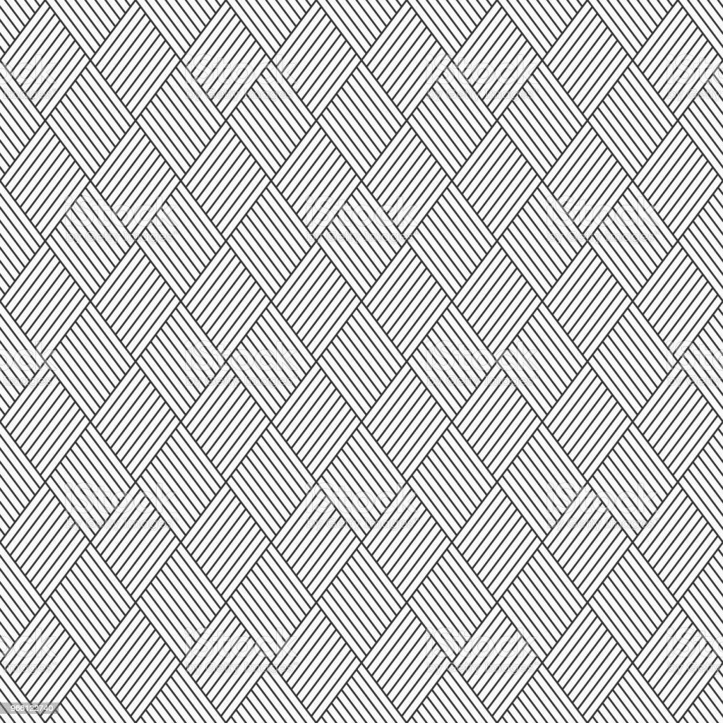 Abstrakte Musterdesign von linearen gestreiften Rauten. - Lizenzfrei Abstrakt Vektorgrafik