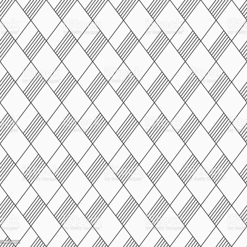 Abstrakta sömlösa mönster av linjära randig rhombuses. - Royaltyfri Abstrakt vektorgrafik