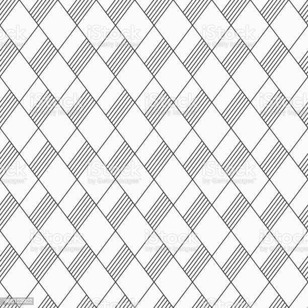 Abstrakta Sömlösa Mönster Av Linjära Randig Rhombuses-vektorgrafik och fler bilder på Abstrakt