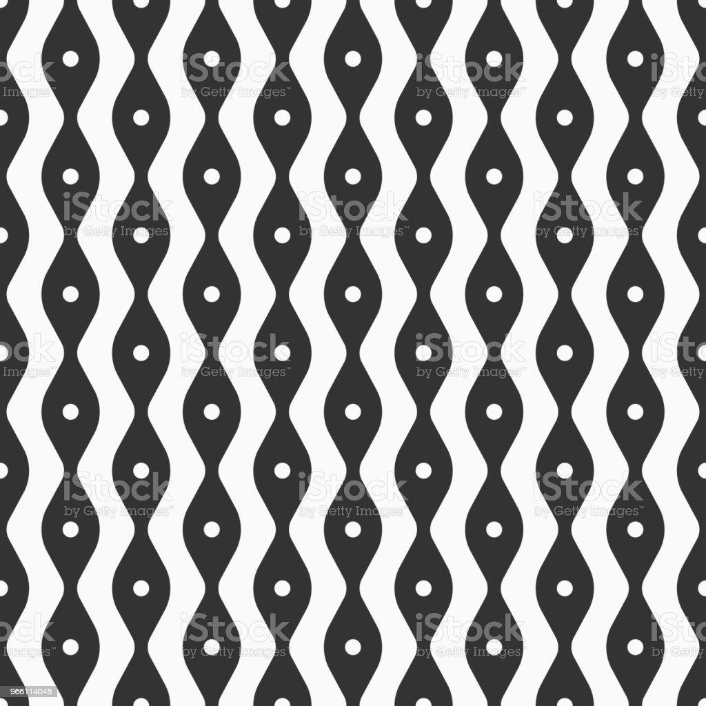 Abstrakta sömlösa mönster av mjuka linjer och punkter. - Royaltyfri Abstrakt vektorgrafik