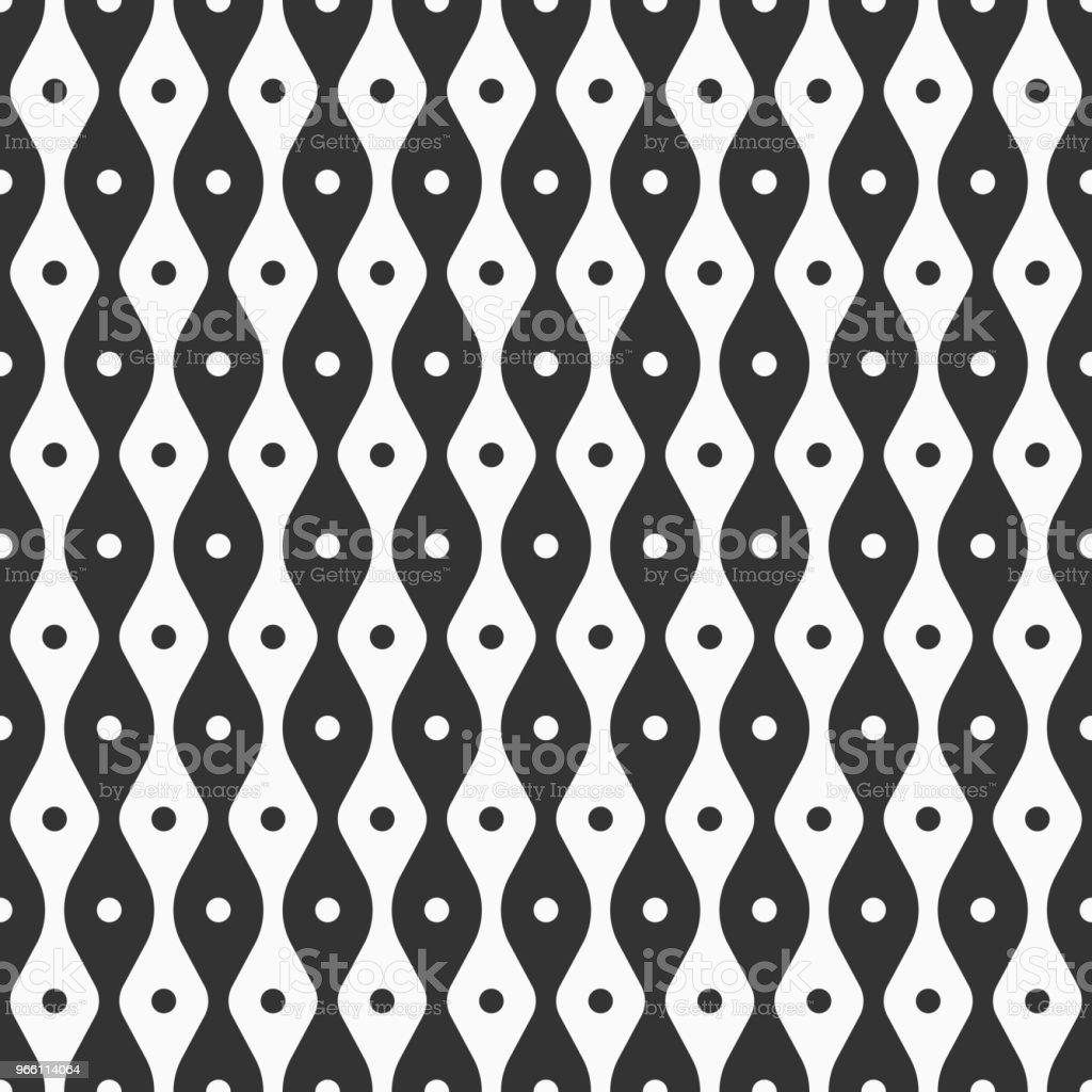 Abstrakte Musterdesign glatten Linien und Punkte. - Lizenzfrei Abstrakt Vektorgrafik