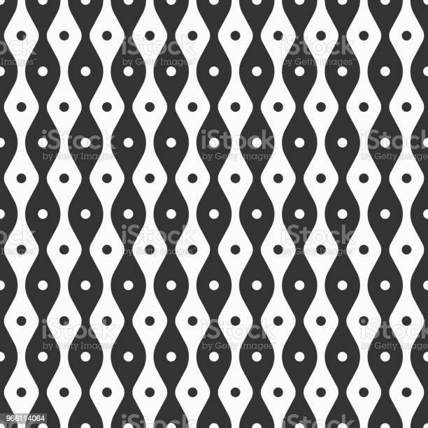 Abstrakte Musterdesign Glatten Linien Und Punkte Stock Vektor Art und mehr Bilder von Abstrakt