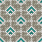 Abstract seamless pattern of squares. Ceramic tiles. Shades of colors.