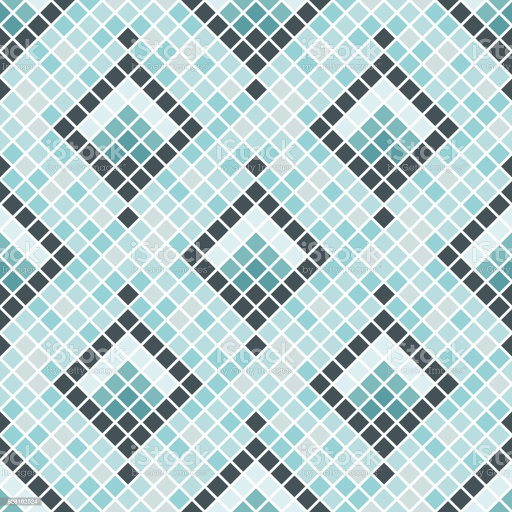 Abstract Seamless Pattern Of Squares Ceramic Tiles Stock Vector Art ...