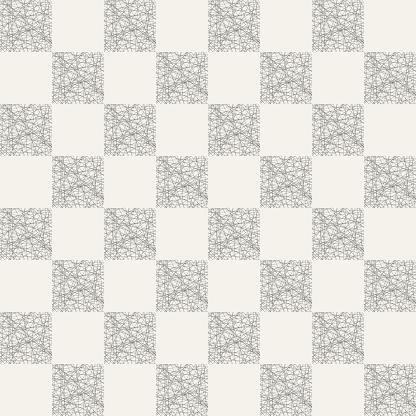Abstracte Naadloze Patroon Van Gestreepte Vierkanten Stockvectorkunst en meer beelden van Abstract