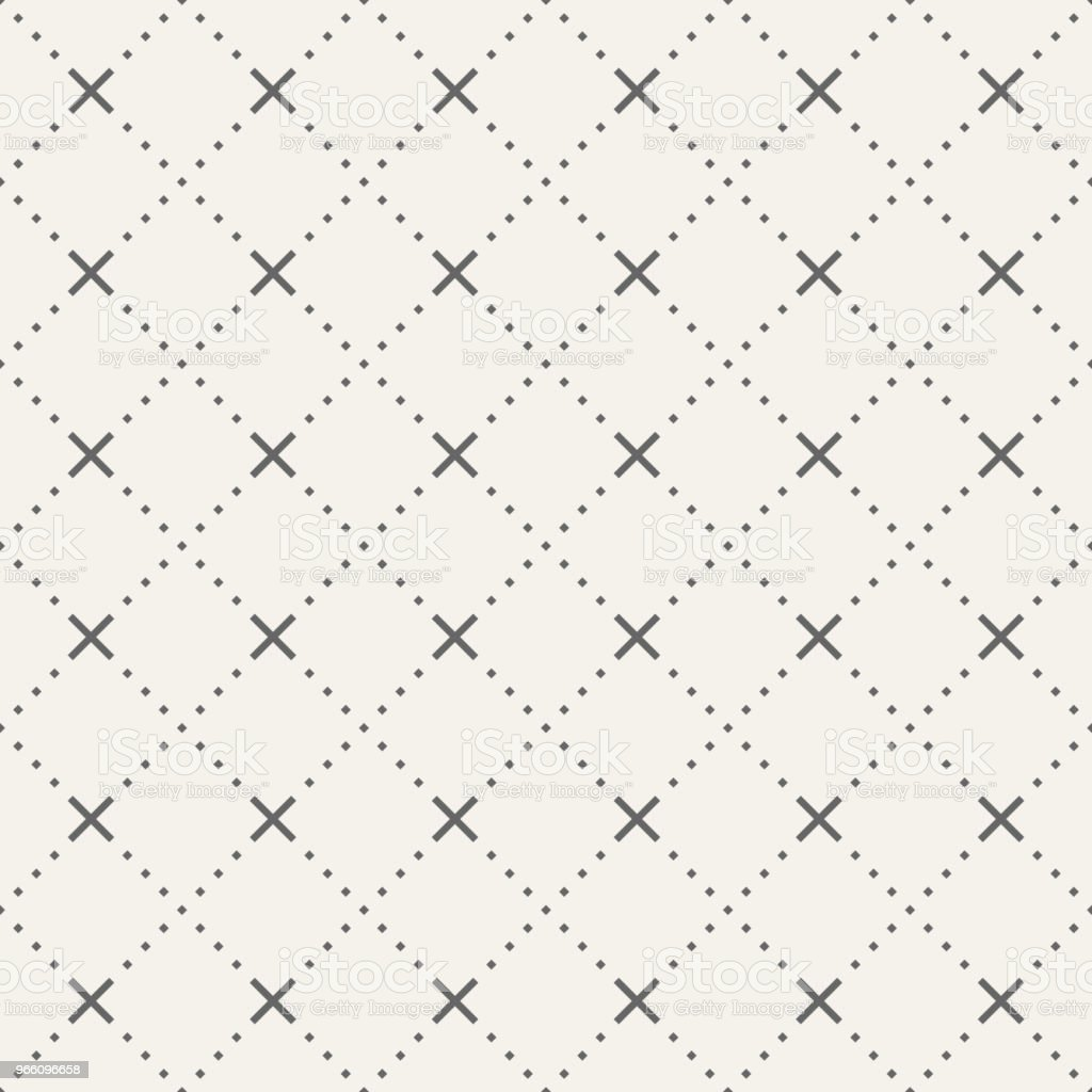 Abstract seamless pattern of tiny rhombuses and crosses. - Royalty-free Abstract stock vector