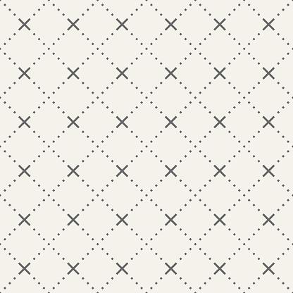 Abstrakta Sömlösa Mönster Tiny Rhombuses Och Kors-vektorgrafik och fler bilder på Abstrakt