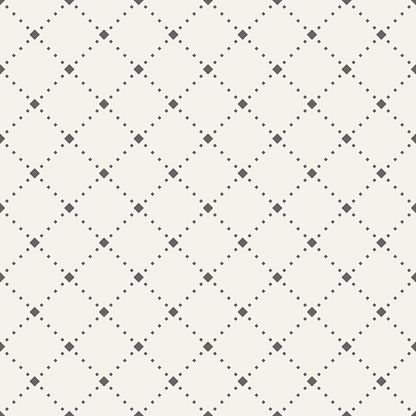 Abstract Seamless Pattern Of Tiny Rhombuses - Arte vetorial de stock e mais imagens de Abstrato