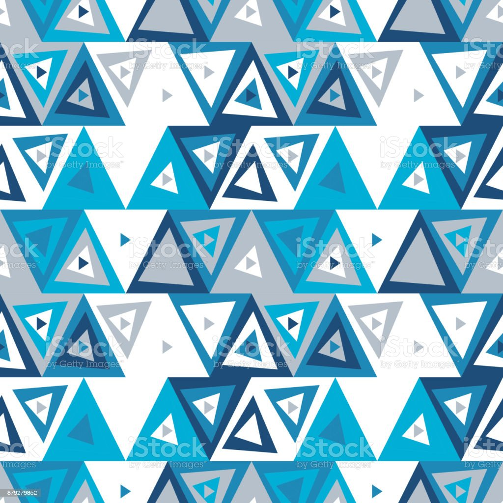 Abstract Seamless Pattern Of Triangles Funny Background Of